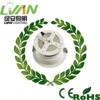 CE ROHS LVD approved high power recessed recessed downlight led lights