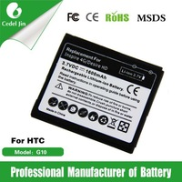 high capacity lithium polymer battery BD26100 for HTC G10 T8788/Inspire 4G A9192 /A9191/Ace/Desire HD 1600mAh battery
