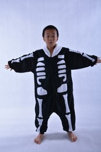 hot sale drop ship kids Halloween skeleton superman costume for kids