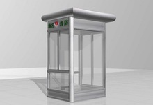 Good looking fiberglass booth for guard, prefab booth, security booth in free design
