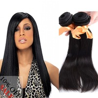 "Grade 6A 2pcs/lot 18"" silky straight hair weaving cheap remy brazilian human hair"