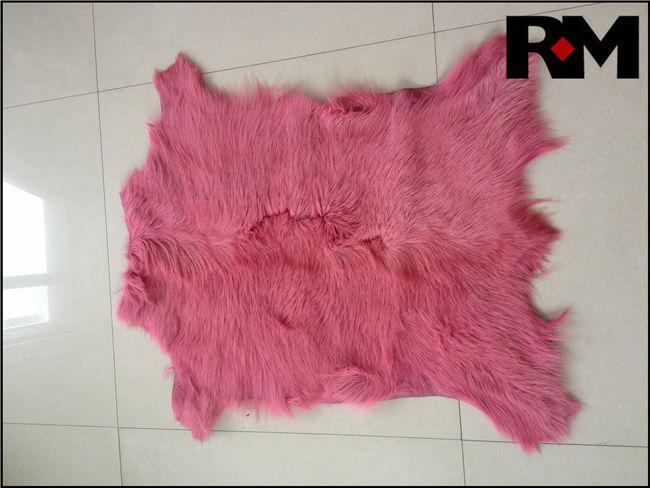 bunt gefärbt ziegenfell teppiche in rosa farbeTierpelz