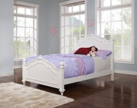 2015 China wholesale kids bedroom Sets wooden king single sleigh Bed for Kids