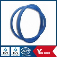 OEM customized blue silicone rubber o ring soft silicone rubber gasket