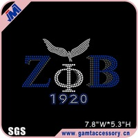 Zeta phi beta rhinestone iron on transfer for tshirt