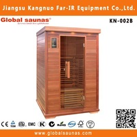 2 person sauna room with abachi sauna wood