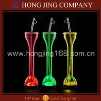 Led plastic drinking yard glass