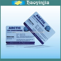 Simple Printing Barcode Key Tag Plastic Card