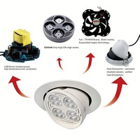 Recessed led spot 40w High power 3200 lm 145mm cut out dimmable 35w swivel led downlight