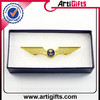 Wholesale promotional products in china usa flag logo pilot wing pin badge
