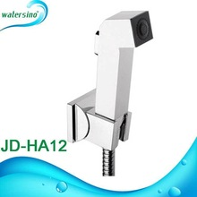 Chrome plated ABS plastic material bidet spray kit with flexible hose JD-HA12