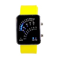 2015 hot selling product brand sports digital watches Ladies fashion fun mirror LED watch wholesale