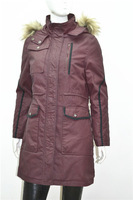 similar goose down jacket motorbike jacket for women with black piping