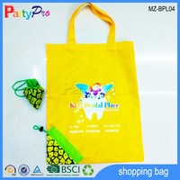 High Quality Yellow Pineapple Shape Tote Shopping Bag Polyester Bag
