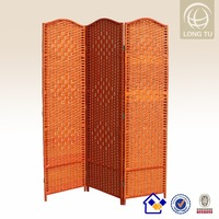 woven bamboo foldable bedroom mirror room divider