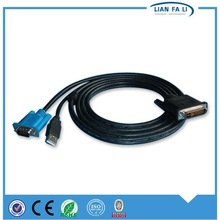 factory price dvi male to vga and usb 2.0 male cable vga cable to connect laptop to tv