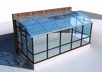 glass house and insulation glass sunroom