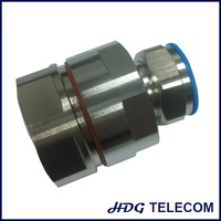 "RF 7/16 DIN straight male connector for 1-1/4"" coaxial cable"
