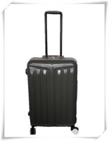 4 wheels ABS PC scrached pattern travel luggage ,suitcase sets