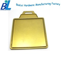 Matt gold square shaped wholesale golf luggage tags