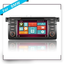 Double din In dash Touch screen Car DVD player for VolksWagen for BMW E46 with GPS navigation
