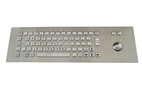 Industrial Wired Kiosk Metal Keyboard/Metal Keyboard with Trackball