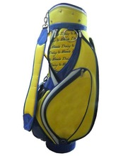 branded customized geunine leather golf caddie bag