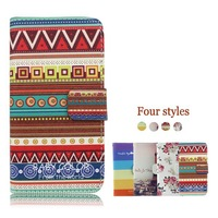 Flip pu leather case cover for samsung N7108, cover for sam N7108