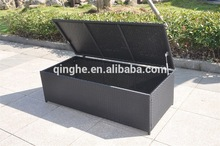 Woven Rattan Box & Cushion Box For Outdoor & Outdoor PE Rattan Storage Boxes With Lids