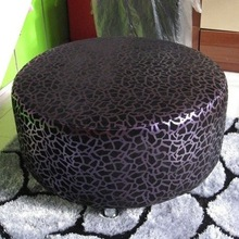 High quality Round PU leather Ottoman