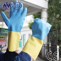 NMSAFETY Neoprene & latex gloves moisture resistant chemical working gloves