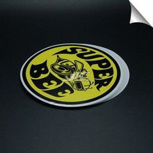 0.12mm water proof flag face sticker