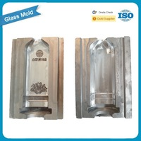Glass factory mould alcohol bottle prototype