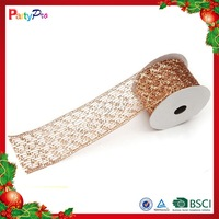 2015 New Design Good Quality Christmas Decorative Mesh Ribbon