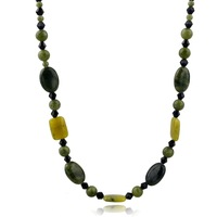 Wholesale green stone nature Stone costume Jewelry Necklace