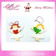 newest Decoration polymer clay angel Christmas ornaments,beautiful christmas decoration clay,angel christmas decoration clay