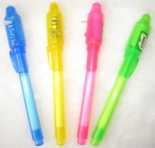 Best selling invisible ink uv light / uv pen / invisible ink pen with uv light