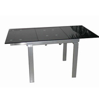 ST-068 12 seater extendable glass dining table