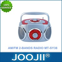 Portable Small AM FM Boombox Radio with double speaker