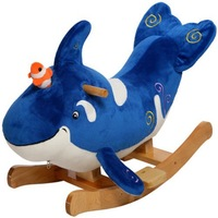 Best made high quality plush and stuffed rocking animal baby toys /plush rocking chair dolphin