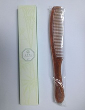 White PP folded plastic hair comb hotel bathroom combs /comb in opp bag
