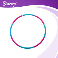 removable hula hoop plastic abdominal massage 85cm diameters hula ring