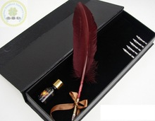 Turkey natural feather delicate favourable price feather calligraphy pen