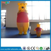 Funny inflatable moving cartoon inflatable bear costume