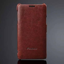 Fashion Genuine leather Flip case for samsung galaxy note 4
