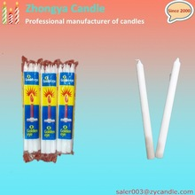 65g wax white household fluted candle export to Pakistan
