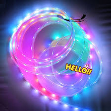 battery powered flexible rgb 3528SMD led lighted ribbon garland