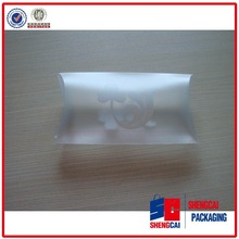 Transparent custom pillow shape box for gift packaging supplier and manufacturer