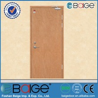 BG-F9056 steel rated fire door with panic push bar