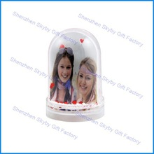 Double Sides Pictures Photo Kid plastic water globe